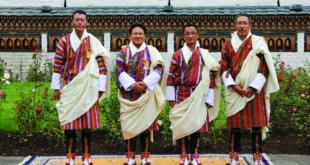 L-R Rinzin Dorji, Karma Tshering Namgyal, Thinley Namgyel, Chencho Norbu.