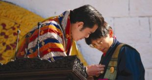 "His Majesty The King awards ""Druk Thuksey""  to Dasho Neten Zangmo during the national day in December 2008."