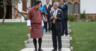 His Majesty The King granted an Audience to Indian Foreign Secretary Dr. S. Jaishankar who was on a 3-day visit to Bhutan from 2-5th October