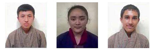 Namgyel Pelzang Dorji, Angie Yoedzer & Basu Dev Upadhya